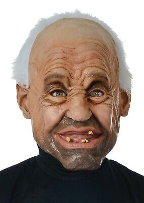 Gramps Latex Mask Old Man Grandpa Goofy Funny Snaggletooth Grin