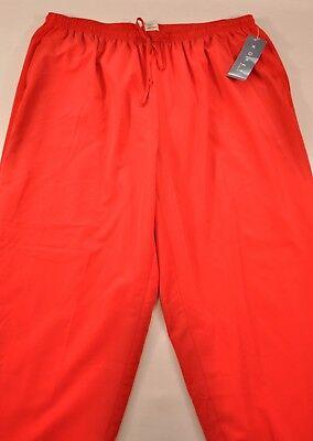 (women's Koret sport pants size 18W red elastic waistband drawstring lining poly)