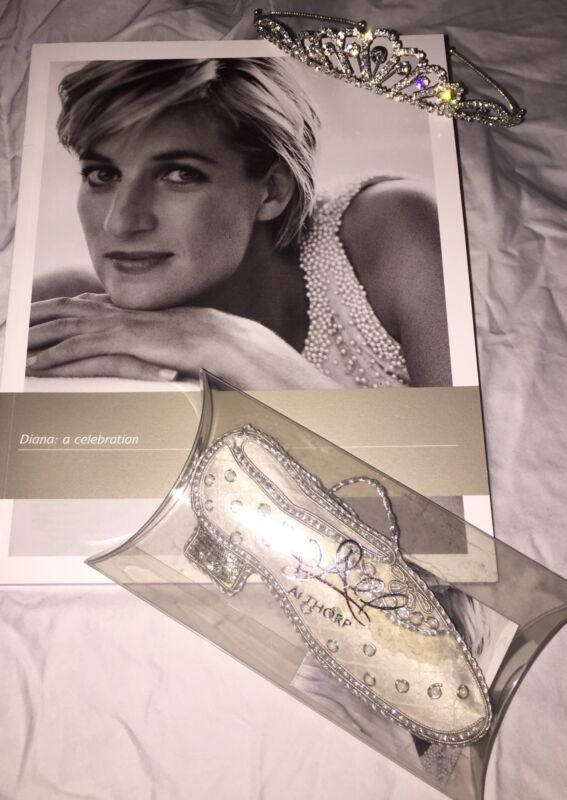 Princess Diana - Gift Set - Wedding Shoe Ornament, Exhibition Catalogue & Tiara