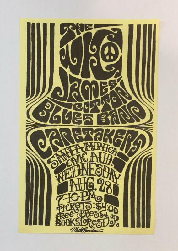 The Who Original 1968 Concert Handbill(Santa Monica Civic)