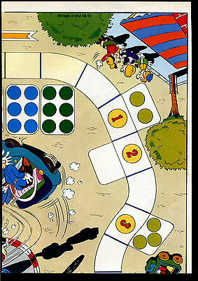 Micky Maus --1981--Nr. 48-- Beilage--Entenhausener TAXISPIEL -- Teil 2 --