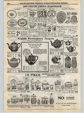 1928 PAPER AD English Rockingham Teapots Tea Pots Dutch Design Kitchen Sets