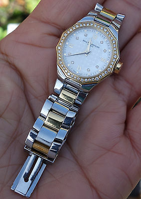 Baume & Mercier Riviera Stainless Steel & 18k Gold Diamond Ladies Watch