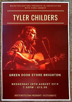 TYLER CHILDERS 2019 Gig POSTER Brighton UK Concert United Kingdom