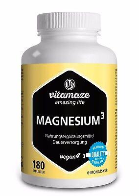 Knochen (Magnesium ³  Komplex Tabletten mit Magnesiumcitrat für Muskelaufbau & Knochen)