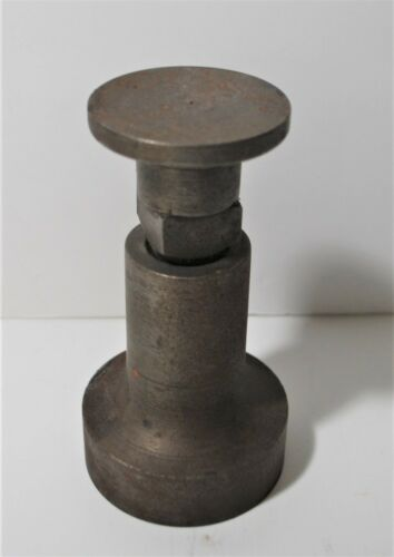"Unusual Old Adjusting Round Jewelers Planishing Anvil, 4 3/4"" High, 2 1/4 Pounds"
