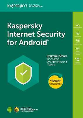 Kaspersky Internet Security für ANDROID Handy/Tablet Mobile 1-Gerät /1Jahr /
