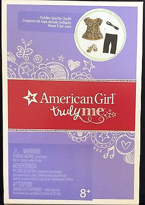 """American Girl Golden Sparkle Outfit Gold Shoes For 18"""" Dolls ~ Truly Me"""