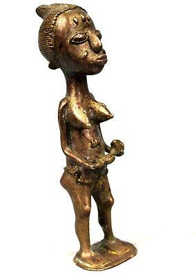 Art African Tribal - Maternity Baoulé Bronze - Billiards Ball Maternity - 18 CMS