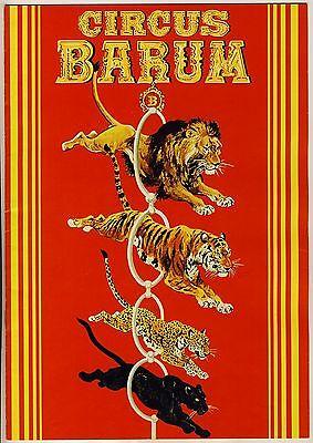 Zirkus CIRCUS BARUM Programm um 1975