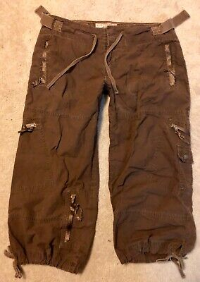 VTG Abercrombie Fitch Jenna Beach Crop Cargo Pants M 8 10 HTF adorable