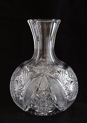 ANTIQUE AMERICAN BRILLIANT CUT GLASS CRYSTAL ABP WINE CARAFE