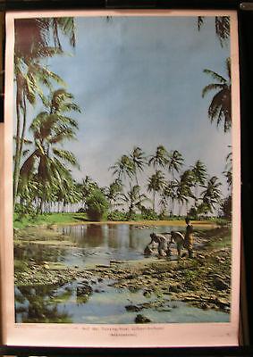Schulwandbild Wandbild Fanning Insel Gilbert Archipel Mikronesien Pazifik 51x74