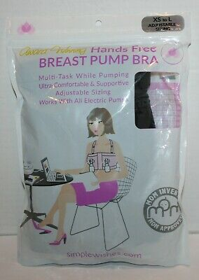 Simple Wishes Hands-Free Breast Pumping Bra Black X-Small - Large