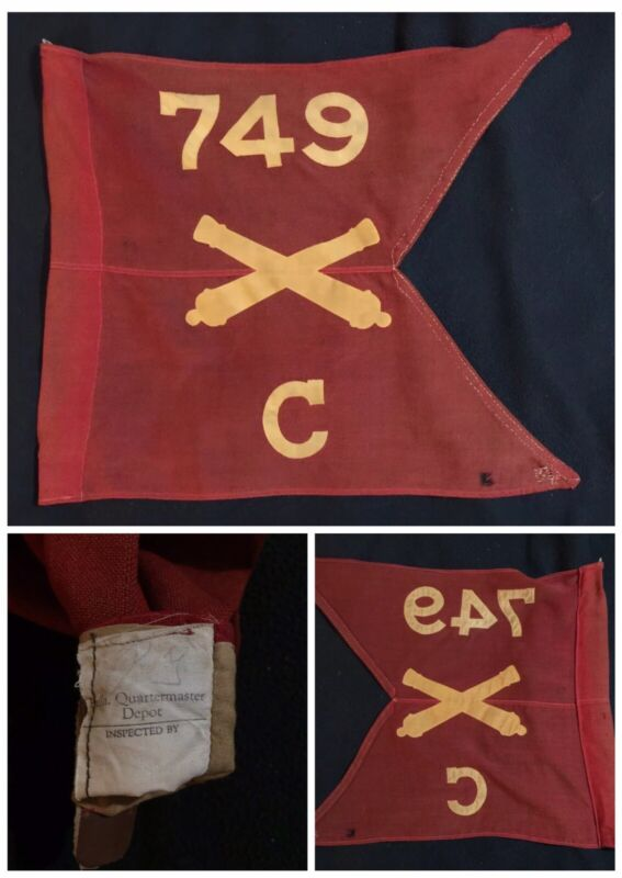 "WWII M1931 GUIDON BTRY C, 749th ARTILLERY BN; ""Henderson Group"" Okinawa 1945"