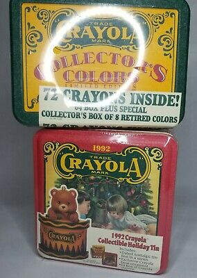 Vintage Collectors Tins of Crayola Crayons Original Wrapped Packaging, limited