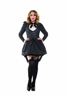 Bad Dreams Babe Adult Womens Costume PLUS SIZE NEW Jack Skellington](Womens Jack Skellington Costume)