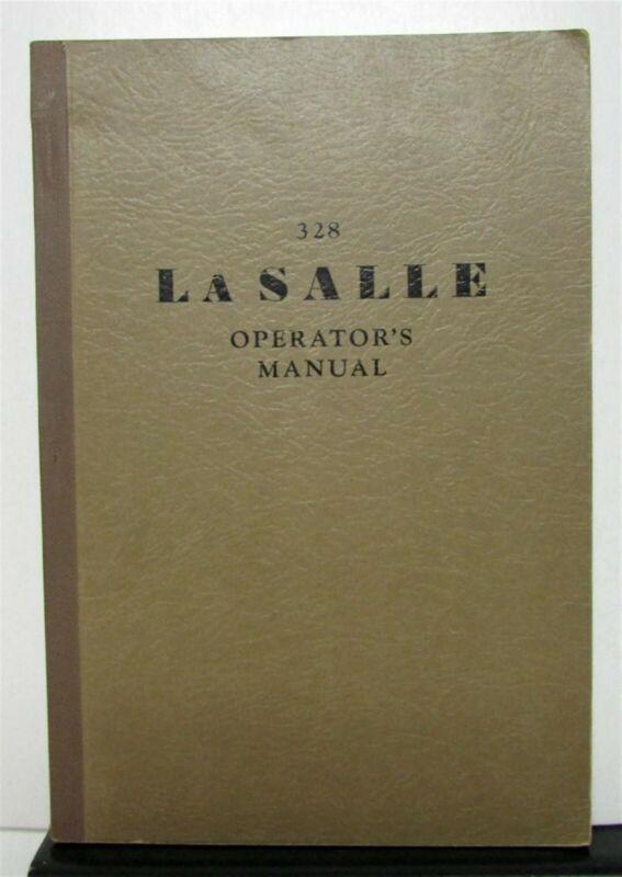 1929 Cadillac LaSalle Model 328 Operators Owners Manual Original