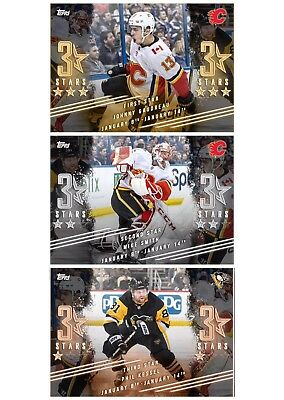 THREE STARS GAUDREAU / SMITH / KESSEL SET OF 3 Topps NHL Skate Digital Card