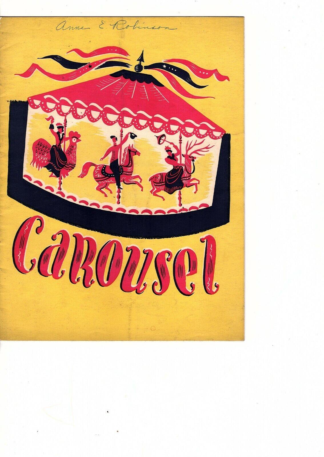 Carousel Original Production Souvenir Program Broadway 1947