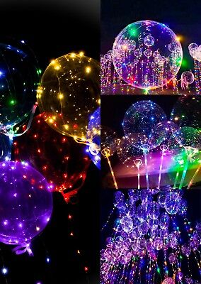 Led Lighted Balloons (LED BALLOONS COLORFUL LIGHTED BALLOONS HALLOWEEN BIRTHDAY X-MAS ANNIVERSARY)