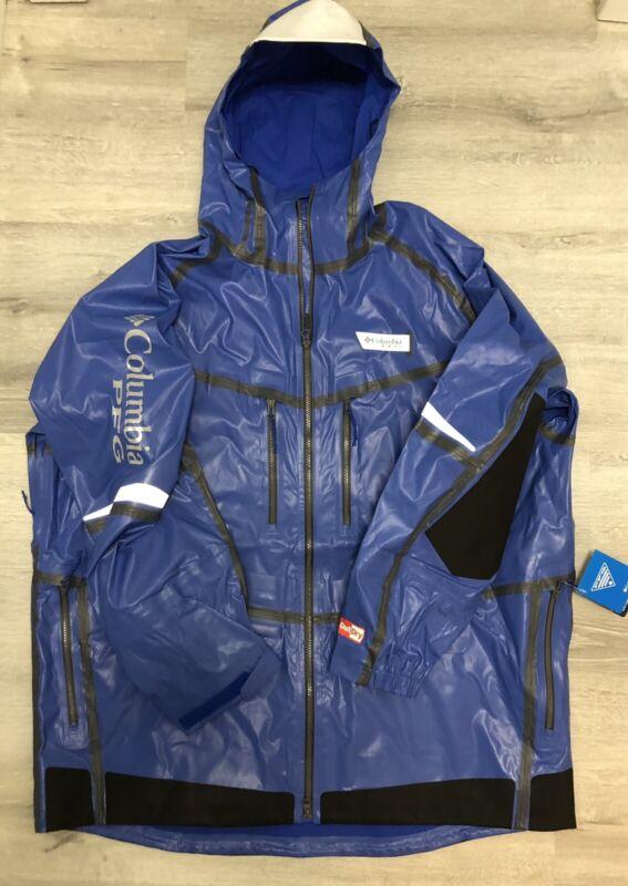 NEW Columbia PFG Force XII ODX OutDry Extreme Blue Fishing Jacket 2XL $350