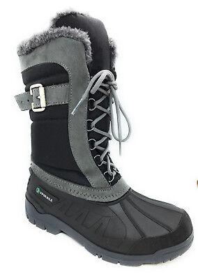Schwarz Schnee Stiefel (Spirale Bella Damenstiefel Schneestiefel Winterstiefel Canadian Boots Schwarz)