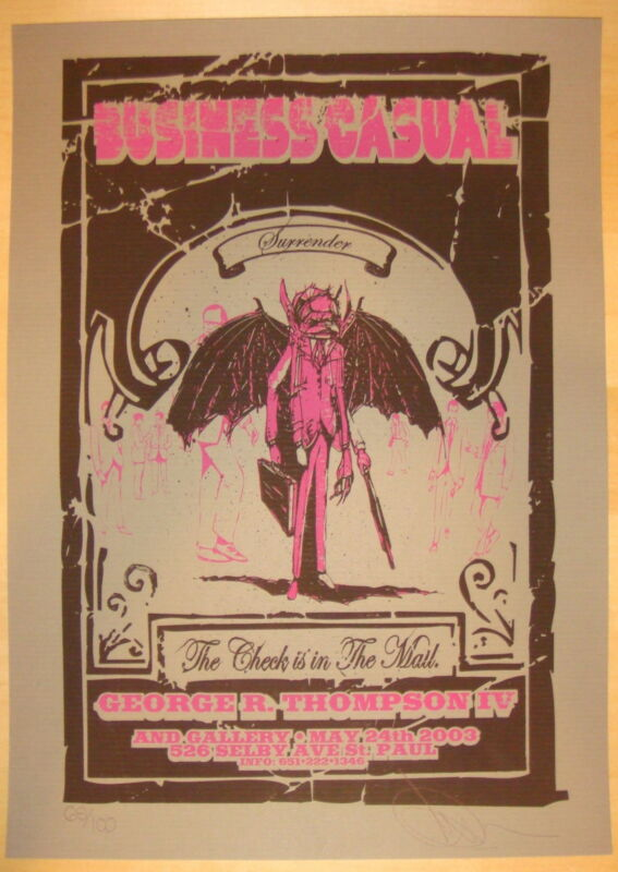 2003 Business Casual - St. Paul Silkscreen Art Show S/N by Burlesque of NA