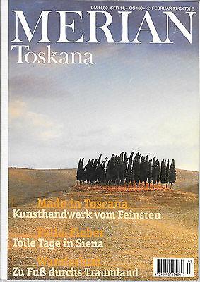 Merian Toskana Februar 1997/ Heft 2/ 50. Jahrgang Siena Wandern Kunsthandwerk