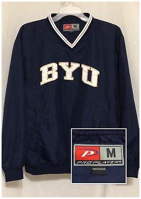 Sz M Medium Pro Player BYU COUGARS Mens Blue Sweatshirt Brigham Young University