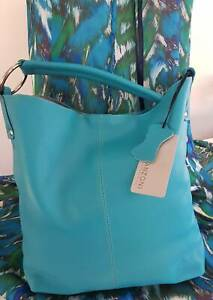 Turquoise leather bag brand new