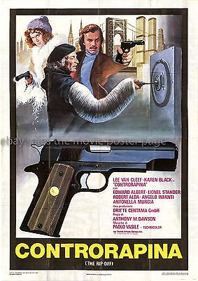 The Squeeze 1978 Lee Van Cleef Italian four-sheet movie poster