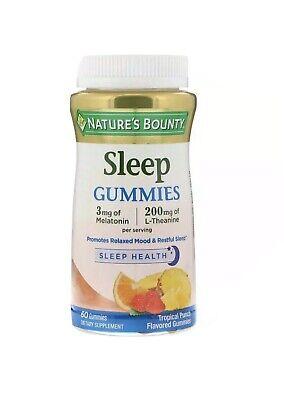 Nature's Bounty, Sleep Gummies, Sleepwell, Tropical Punch Flavored, 60 Gummies