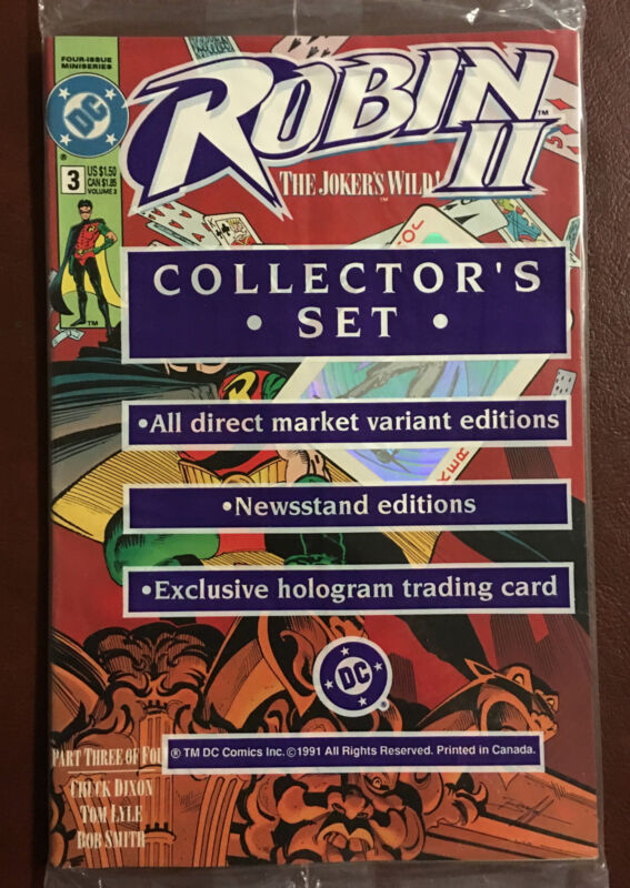 ROBIN II~2~#3~COLLECTOR'S SET~FACTORY SEALED~INCLUDES HOLOGRAM TRADING CARD~