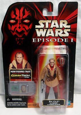 Hasbro Star Wars Episode I - Ric Olie Action Figure - CommTech Chip