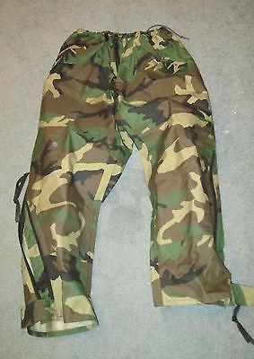 USGI Military BDU Woodland Gore-Tex Camo Pants Cold Weather Med-Short  EUC