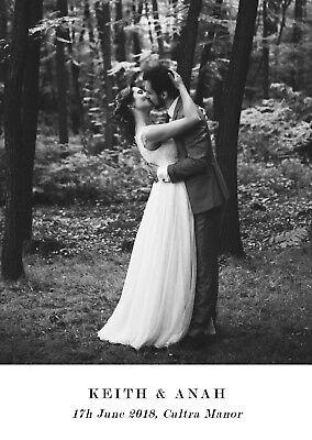 100 Personalised Wedding Thank You Cards/Photo + FREE Envelopes Any text/image💕