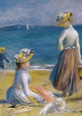 Kunstkarte: Renoir - Frauen am Strand