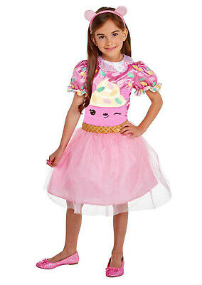 Num Nums Connie Confetti Pink Cupcake S Halloween Costume Dress & Lip Gloss Ring
