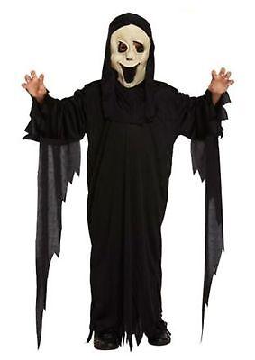 Children's Demon Ghost Scream Halloween Party Fancy Dress Costume Ages 4 - 12 - Girl Scream Costume