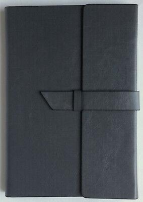 Notebook Portfolio Writing Journal Faux Leather Vinyl Fabrizio Spector Gray New