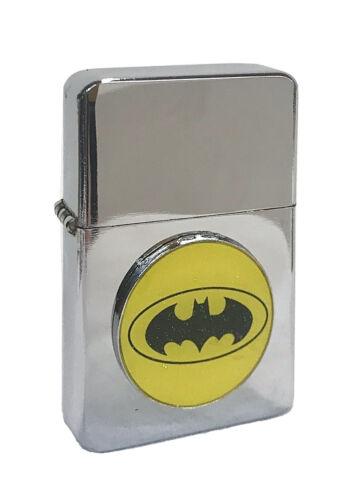 batman logo dc comics flip top chrome