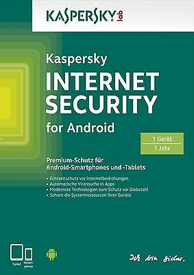 Kaspersky Internet Security Android 2019 1 Gerät 1 Jahr Handy Tablet