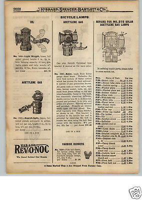 1922 Paper Ad Solar Brand Oil Acetylene Gas Bicycle Lamp Search Light Delta