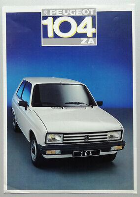 V17492 PEUGEOT 104 ZA - DEPLIANT - 1987 - A4 - FR FR