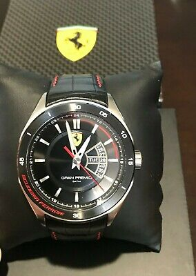 Ferrari Men's 0830183 Gran Premio Analog Display Quartz Black Watch