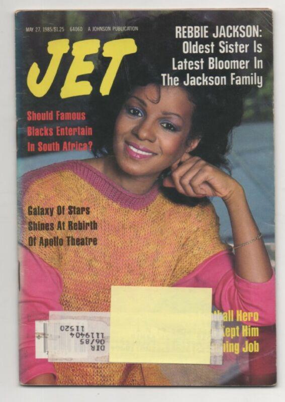 Jet MagazIne May 27th 1985 Rebbie Jackson Cover
