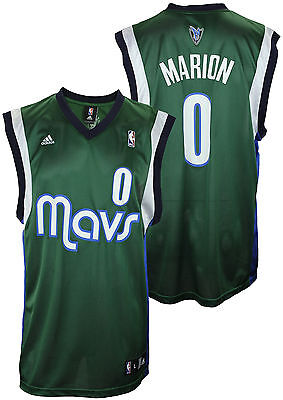 Adidas NBA Mens Dallas Mavericks Shawn Marion # 0 Replica Jersey, Green