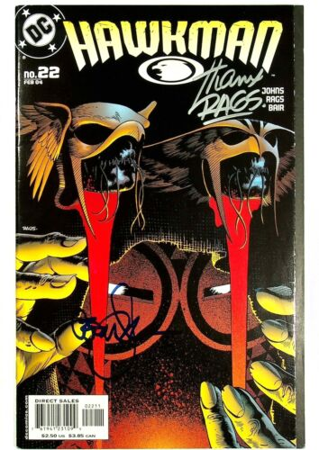Hawkman #22 Signed by Geoff Johns & Rags Morales DC Comics