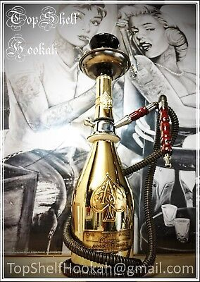 *Custom Ace of Spades Hookah HANDCRAFTED (message me for upgrades) Top Shelf*